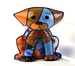 ROMERO BRITTO DOG FIGURINE- BOXER