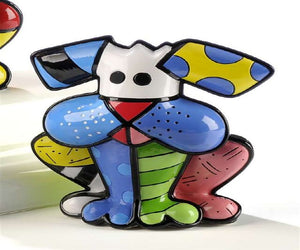 ROMERO BRITTO DOG FIGURINE- TERRIER