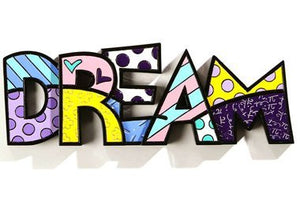"ROMERO BRITTO ""DREAM "" WORD ART"