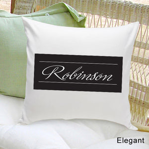 Personalized Family First Elegant Throw Pillow