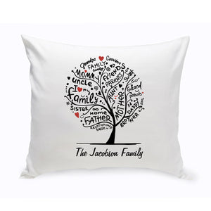 "Personalized ""Family Roots"" Throw Pillow"