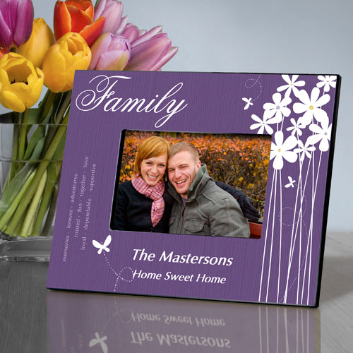 Personalized Family Bloomin' Butterfly Picture Frame