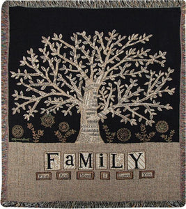 Family Tapestry Throw