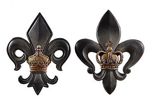 Fleur De Lis Wall Decor Set Of 2