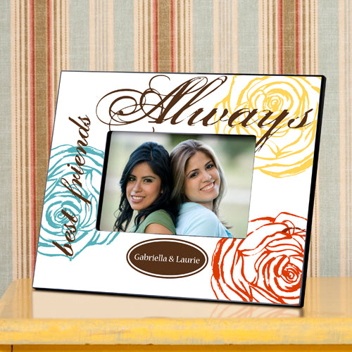 Personalized Forever Friends Colorful Bouquet Picture Frame