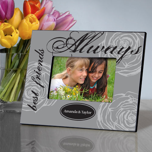 Personalized Forever Friends Grey Elegance Picture Frame