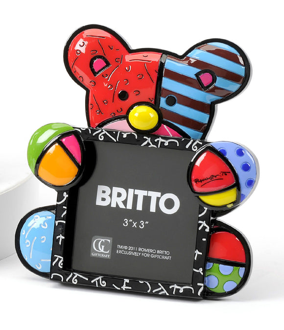 ROMERO BRITTO SMALL BEAR DESIGN PHOTO FRAME