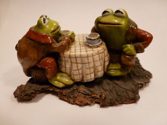 Wee Forest Folk Frog Friends Rust/Brown Coat