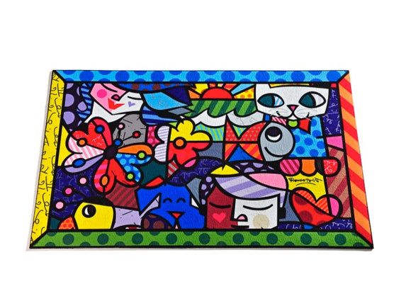 ROMERO BRITTO GARDEN DESIGN ICONS DOOR MAT/RUG