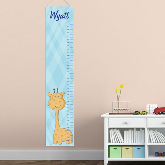 Personalized Baby Boy Giraffe Growth Chart