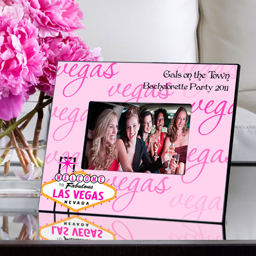Personalized Gals Las Vegas Pink Picture Frame