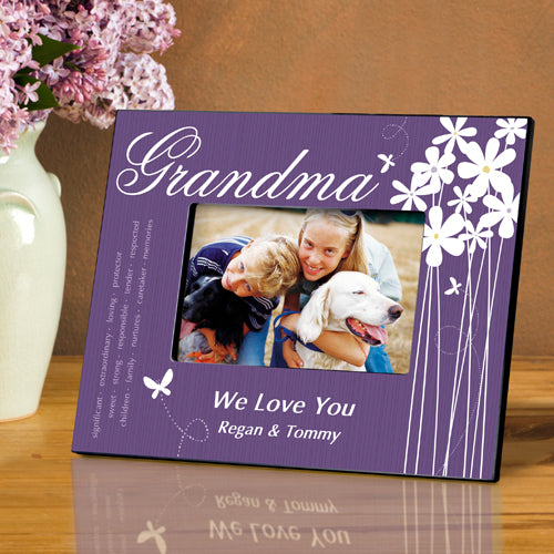 Personalized Grandma Bloomin' Butterfly Picture Frame