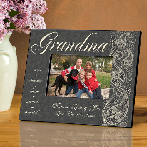 Personalized Grandma Pretty Paisley Picture Frame