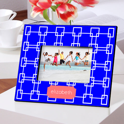 Personalized Grecian Blue Picture Frame