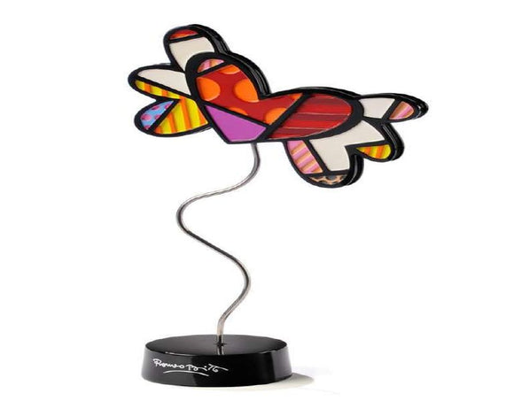 ROMERO BRITTO HEART WITH WINGS FIGURINE