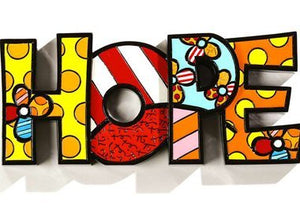 "ROMERO BRITTO ""HOPE"" WORD ART"