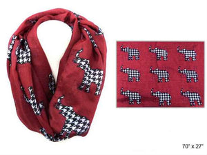 Alabama Houndstooth Elephant Scarf