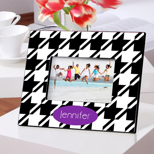 Personalized Houndstooth Picture Frame