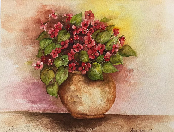 "Limited Edition Numbered Painting Print ""Hydrangeas"""