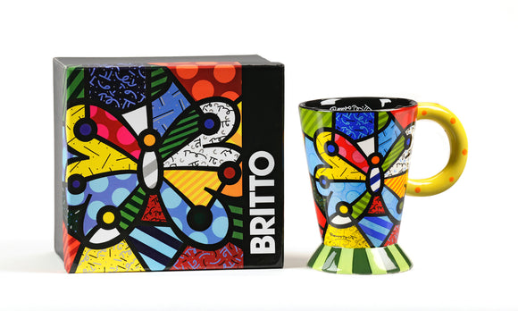 Romero Britto Boxed Mug- Butterfly Design