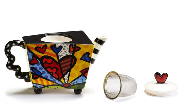 ROMERO BRITTO TEA INFUSER TEAPOT- A NEW DAY DESIGN
