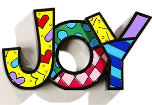 "ROMERO BRITTO ""JOY"" WORD ART"
