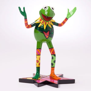 ROMERO BRITTO DISNEY KERMIT THE FROG MUPPET FIGURINE