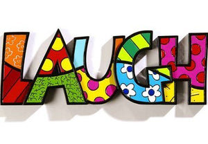 "ROMERO BRITTO ""LAUGH "" WORD ART"