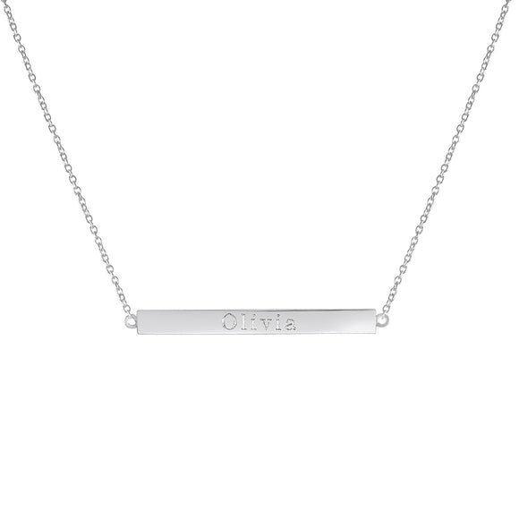 Lily Bar Necklace In Sterling Silver