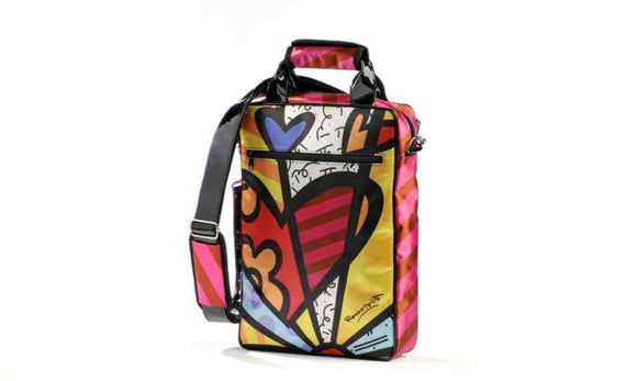 ROMERO BRITTO SMALL SIGNATURE LAPTOP OR IPAD CARRYING CASE