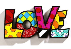 "ROMERO BRITTO ""LOVE"" WORD ART"