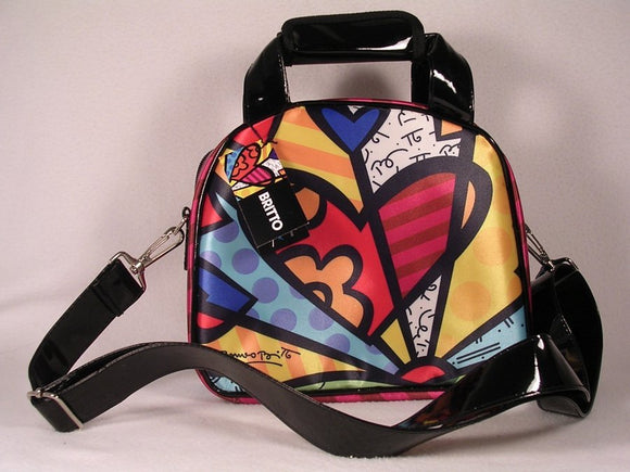 Romero Britto Hearts Insulated Lunch Bag w/ Signature