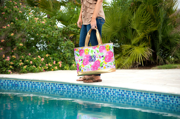 Cabana Tote Bag In Floral