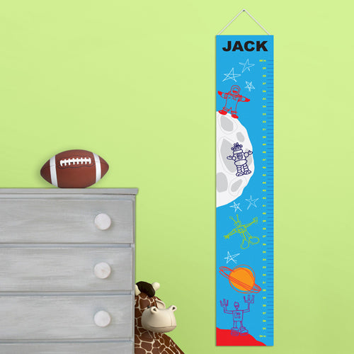 Personalized Martian Men Growth Chart