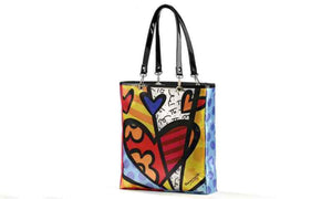 "Romero Britto Hearts ""A New Day"" Medium Tote Bag"