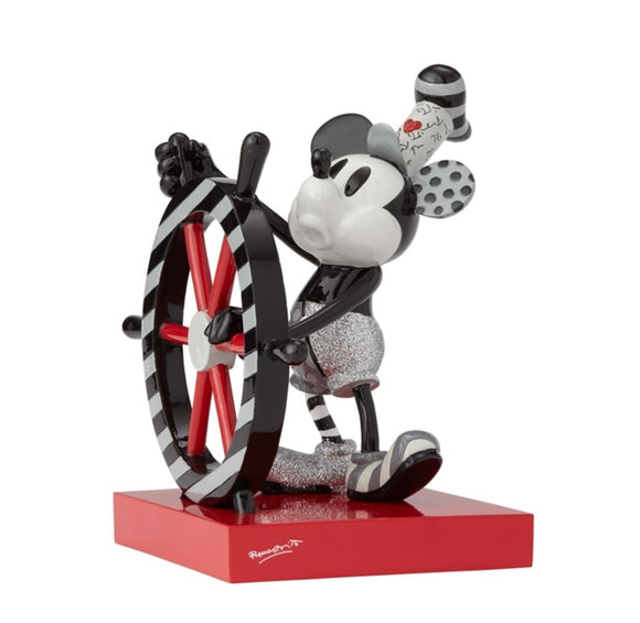 Romero Britto Disney New Steamboat Willie Mickey Mouse Figurine