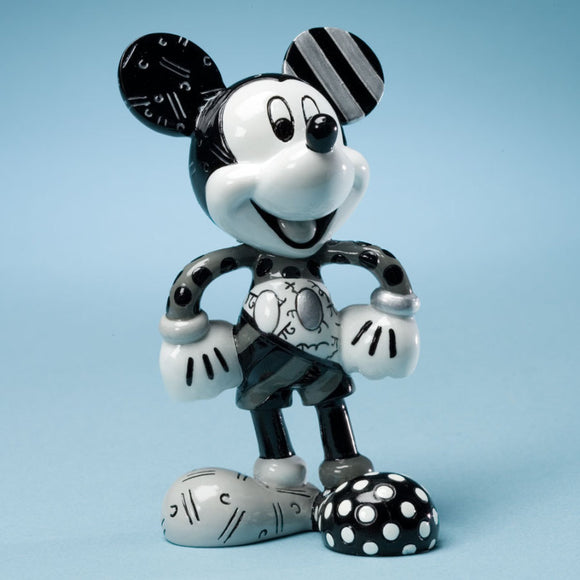 ROMERO BRITTO DISNEY MICKEY MOUSE BLACK & WHITE FIGURINE