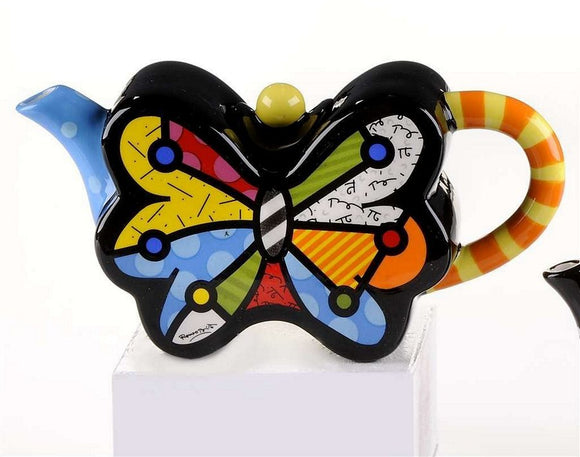 ROMERO BRITTO MINI BUTTERFLY TEAPOT