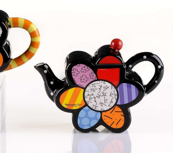 ROMERO BRITTO MINI FLOWER TEAPOT
