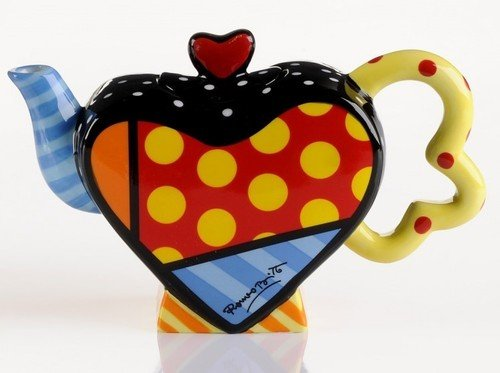 ROMERO BRITTO MINI HEART TEAPOT