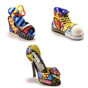 ROMERO BRITTO NEW MINI/MINIATURE SHOES SET OF 3