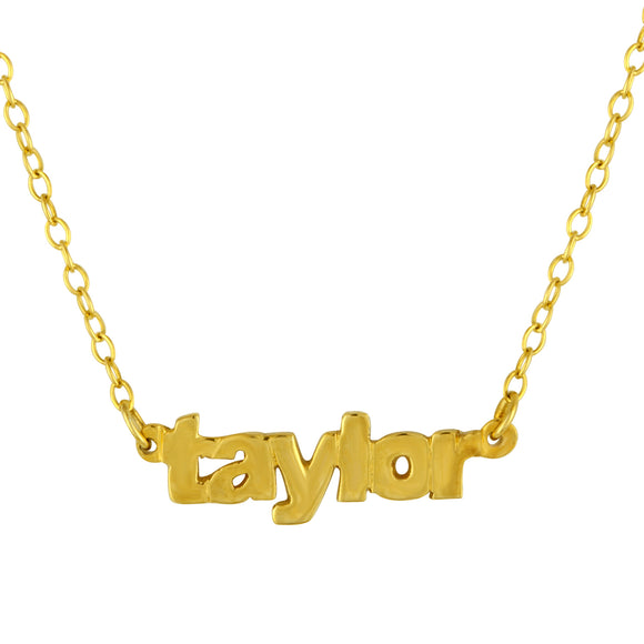 Mini Nameplate Necklace In Gold