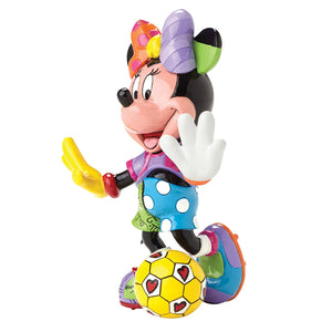 Romero Britto Soccer Player Minnie Mouse Figurine