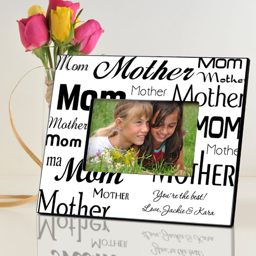 Personalized Black & White Mom-Mother Frame