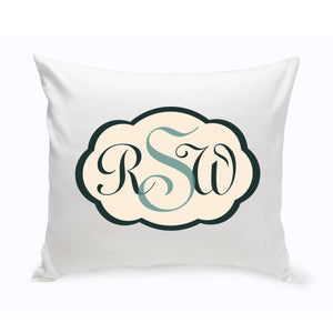 "Monogram ""Blues"" Throw Pillow"