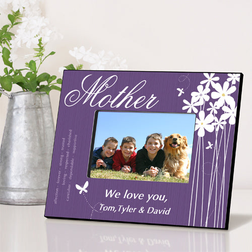 Personalized Mother Bloomin' Butterfly Picture Frame