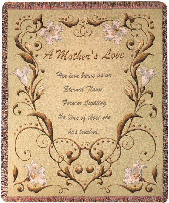 A Mother's Love Tapestry Throw