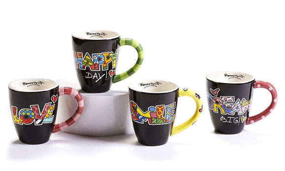 ROMERO BRITTO SENTIMENT MUG ASSORTMENT- CHOOSE ONE