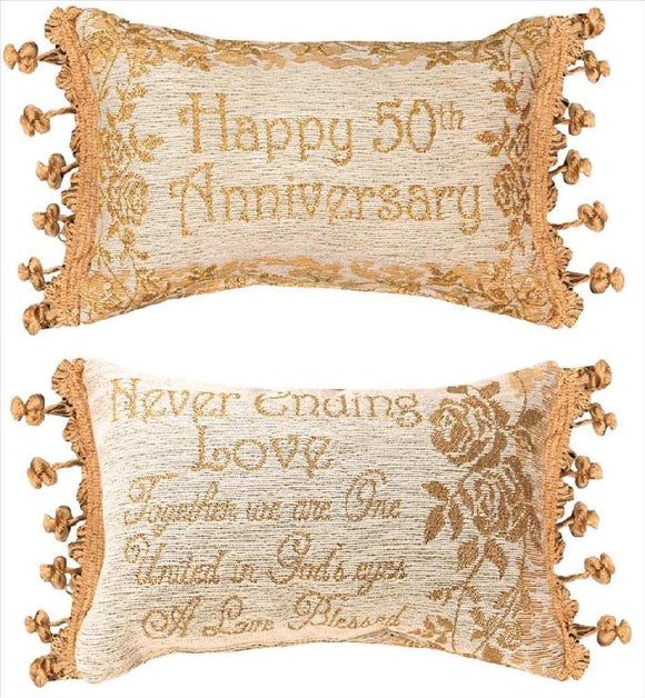 50th Anniversary Reversible Memory Pillow