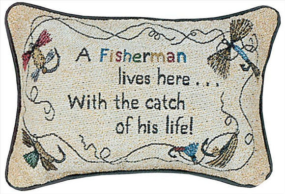 A Fisherman's Word Pillow